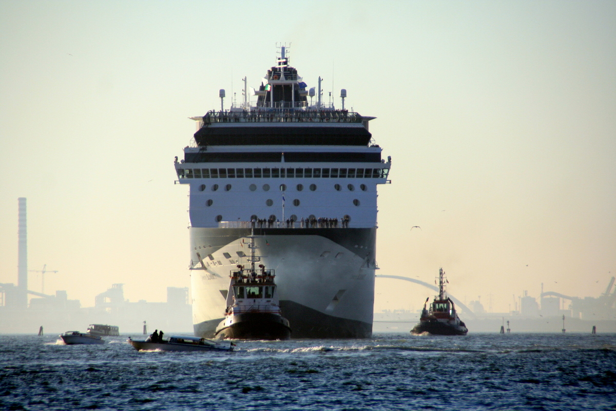 Derek Law - The cruise ship GTS Celebrity Summit entering the Giudecca Canal inVenice