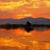 Sunset at Inle Lake Resort, Burma