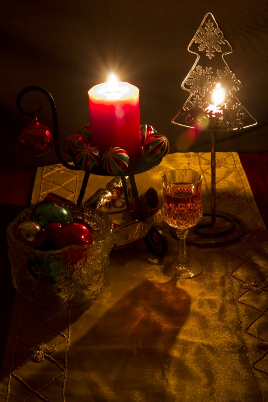 Colin Brown Candles At Christmas